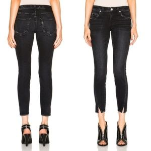 AMO Skinny Twist Cropped Jeans in Ink {K10}